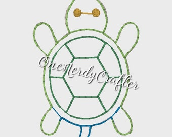 Turtle Flasher Feltie Embroidery Digital Design File