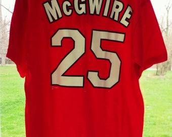 St Louis Cardinals Mark McGwire vintage 1998 L t-shirt jersey NWT STL Cards Bash Brothers MLB baseball jersey t-shirt National League nl