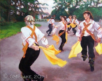Whole-Hey: Morris Dance - original art