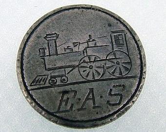 Victorian Steam Engine - Train Engine Love Token - Seated Liberty Dime 1887
