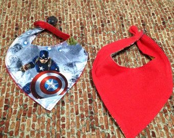 Captain America Bandana Bib  (CPTNAM/BAND-BB)