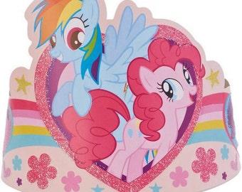 Little Pony Paper Tiaras 8ct