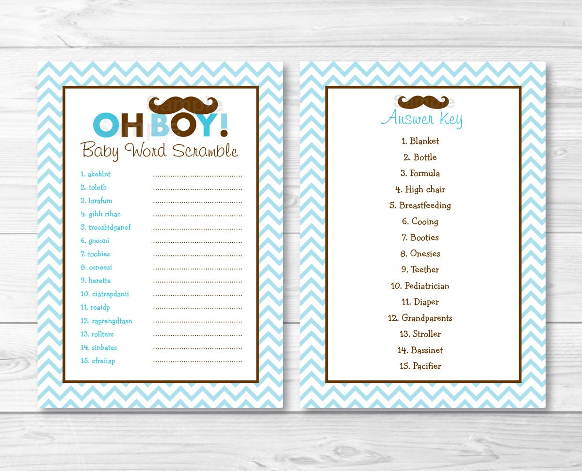 🔎zoom  Baby Shower Word Template