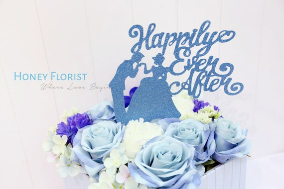 Cinderella silk flower box personalized with name or own cinderella silk flower box personalized with name or own message special love present blue wedding mightylinksfo Images