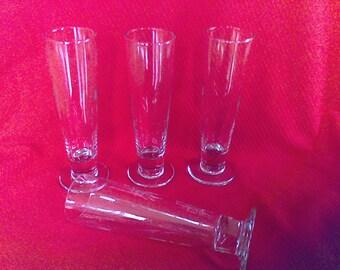 Set of 4- Mid Century  Beer   glasses, never used, 14 oz. , Pilsner,