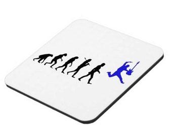 Evolution of Man coasters, novelty coaster, rock music, rugby, kickboxing, motorcross, football, darts, cycling, surfing, fishing, computing