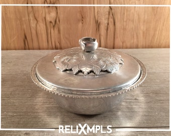 Continental Silver Co. Wild Rose Bowl with Lid