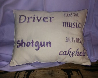 Supernatural Hand Embroidered Pillow