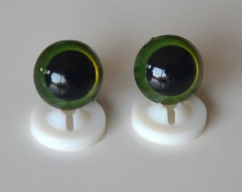 EYES secure 12mm KHAKI for toy or stuffed animal