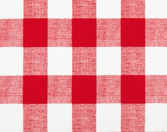 Laminated Cotton aka Oilcloth HEAVYWEIGHT splat mat red and white Buffalo Plaid, choose your size