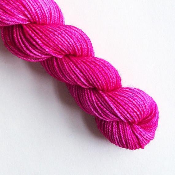 ROSE pink hand dyed yarn
