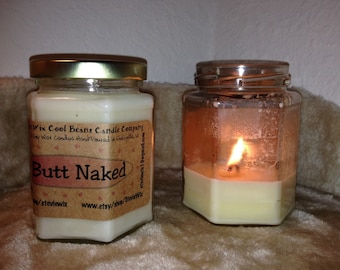 12-oz. Wicked Soy Butt Naked Scented Candle