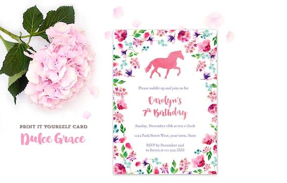 horse riding party pony invitations horse birthday invites