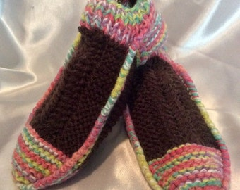 Models slippers handmade knit for women, girl, man on order