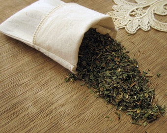 """Organic Cotton Reusable Tea Bags 3X5""""  Set of 2"""