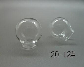 4pcs del globo de vidrio transparente de 20mm / botella de cristal / bulbos de cristal / vidrio domos N109