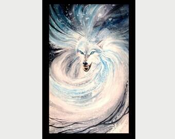"""Fantasy Art Ptint Wolf - """"Dezember-Werewolf"""" - 30x45 sm - 11,81 x 17,7 inch"""