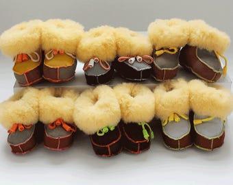 Baby sheepskin booties lucky dip