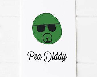 P Diddy Pun Postcard Print