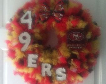 SAN FRANCISCO 49ers Wreath 18''
