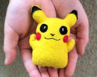Pikachu [Inspired] Plush - Felt Stuffie - Pocket Pal- Mini Plush - Kids Toys - Gifts for Kids - Pokemon