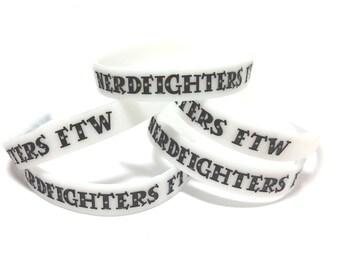 Nerdfighters FTW Glow-in-the-dark Silicone Bracelet