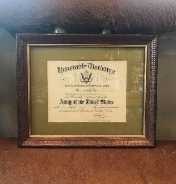 Vintage 1960 Us Army Honorable Discharge Certificate 1st