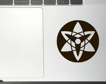 SASUKE MANGEKYO SHARINGAN Kiyoshi Vinyl Decals/Stickers for Car Macbook iPhone iPad