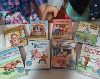"""Little House on the Prairie Printable Book Collection for 18"""" American Girl Dolls School Supplies"""
