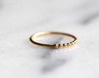 BI-ring  vermeil ring. sterling silver band.Gold plated ring. Stackable band. Vermeil