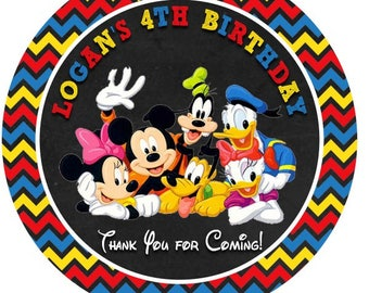 Mickey Mouse Gang Printed Favor Tags