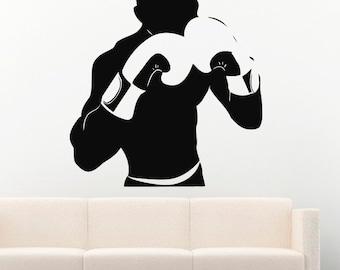Sport Wall Decals Boxing Vinyl Decor Stickers MK1277
