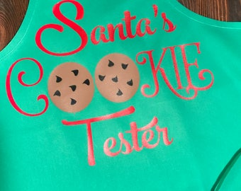 Santa Cookie Tester Toddler Apron