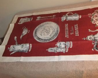 Vintage Kitchen Linen Hand Painted Kay Dee   #17KT