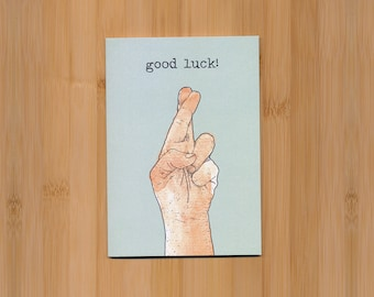 Fingers crossed card