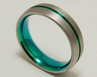 Orion Band with Comfort Fit Interior , Titanium Ring , Wedding Band , Promise Ring