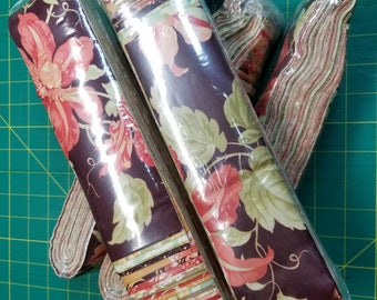 Tapestry Jelly Roll set by Fig Tree Co for Moda Fabrics.  40 strips at 2.5 inch.