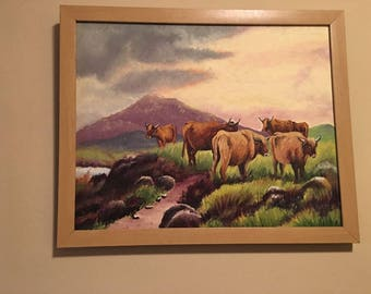Cows in a Pasture (Oil)
