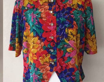 Vintage Late 70's/80's Floral Blouse