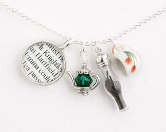 Jane Austen's Emma - Jane Austen Tea Necklace - Jane Austen Jewelry - Jane Austen Necklace - Gifts for Readers - Literary Jewelry