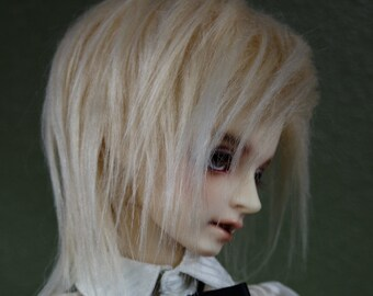 Longest Blonde doll wig SIZE CHOICE faux fur wig BJD high school monster american girl