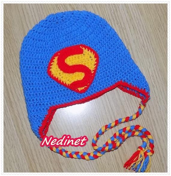 Superman Knit Hat Instructions
