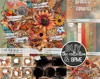 Golden Autumn, Digital Scrapbooking, Autumn, Fall, Indian Summer, Elements