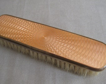 Beautiful Guilloche Enamel Clothes Brush