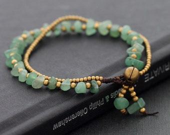Jade Double Stand Bracelet