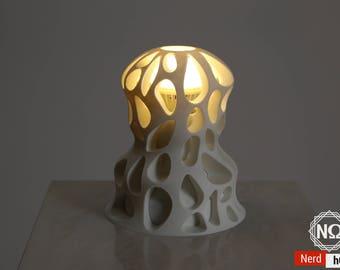 Modern Desk Lamp, Organic Lighting, 3D Printed Lamp, Desk Lamp, Bedside Lamp, Voronoi Design, Voronoi Tesselation, Nerd Decor, Geek Gift