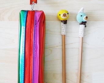 HOLOGRAPHIC Rainbow zipper pencil case, Metallic Glitter pouch, pencil bag, liquid look, soft grunge, colorful, vivid, kawaii, cyber, RAD