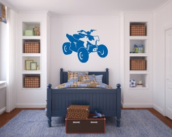ATV Wall Decal - 4 wheeler Decal - Boys Room Wall Decal -ATV Decal - Quad Wall Decal - ATV Decal - Honda Decal - Kawasaki Decal
