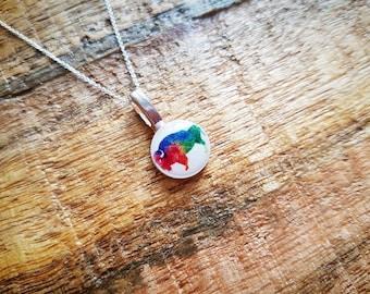 FUNDRAISER Rainbow Bison necklace- Fundraiser- Equality- LGBT- Marshall University- Rainbow necklace - Marshall necklace