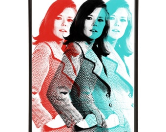 Triple Emma: Art & Hue presents The Avengers graphic pop art inspired by the cult British 1960s TV show -gallery wall art prints Diana Rigg